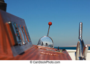 Throttle yacht closeup