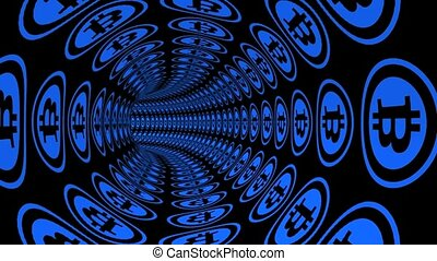 Through Bitcoin electronic money channel tunnel.