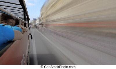 Through the city on a Tourist Bus