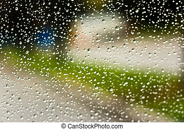 through the windshield 2 - rain drops through the windshield