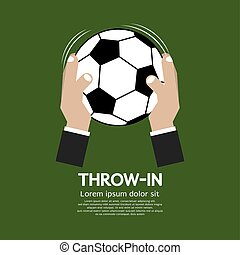 Throw In Football Or Soccer Vector.