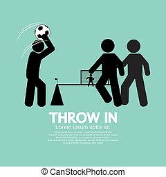 Throw in Soccer Or Football Symbol.