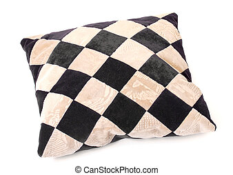 Throw Pillow with a Checkerboard Texture, on white ...