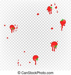Throw Tomatoes Vector. Having Tomatoes From Crowd. Fail,...