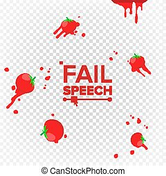 Throw Tomatoes Vector. Having Tomatoes From Crowd. Failure,...
