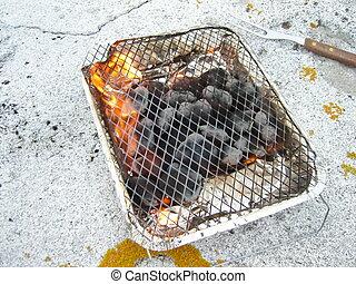 Throwaway grill