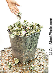 Bad purchases, band invesments, bad loans, it all amounts to throwing away your money.