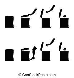 throwing garbage art vector illustration