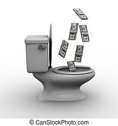 Throwing Money Down the Toilet