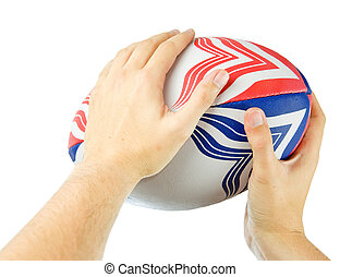 throwing rugby ball