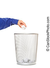 Throwing trash