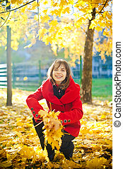 Throwing Yellow Leaves