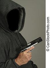 Thug Holds Gun