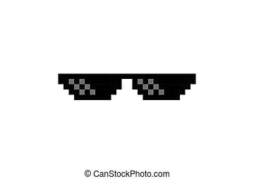 Thug Life Pixel Art Glasses - Pixel Art Glasses of Thug Life...