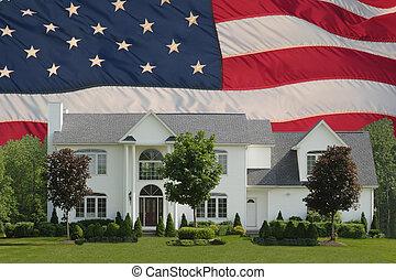 thuis, amerikaanse droom