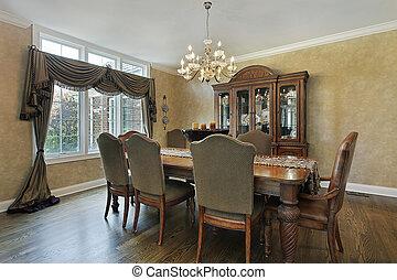 thuis, kamer, luxe, het dineren