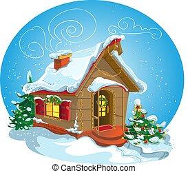 thuis, kerstmis