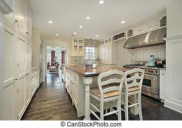thuis, luxe, keuken