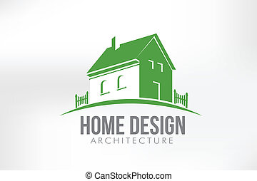 thuis, vector, ontwerp, illustratie
