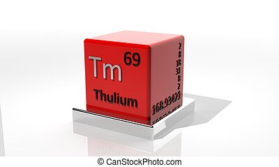 Thulium,  3d chemical element of the periodic