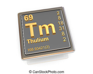 Thulium. Chemical element.