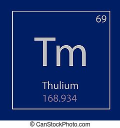 Thulium Tm chemical element icon