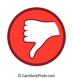 Thumb down icon, simple style