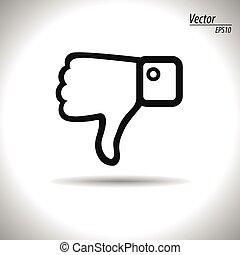 Thumb down icon. Vector, illustration, eps10.