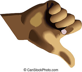 thumb down vector sign