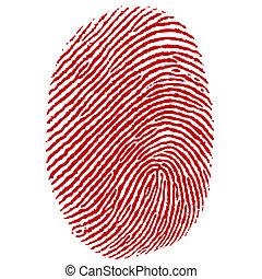 thumb impression - illustration of thumb impression on white...