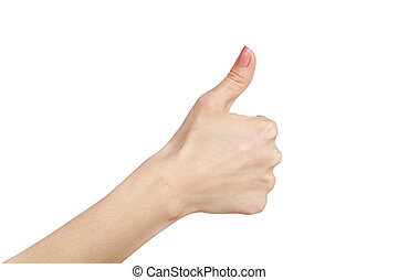 Thumb isolated on white