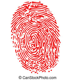thumb print in red