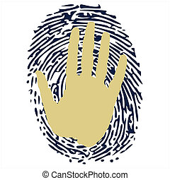 thumb print under the hand