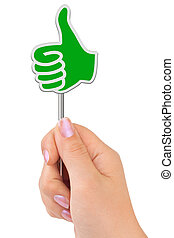 Thumb sign in hand