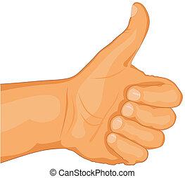 Thumb up - Abstract vector illustration thumb up