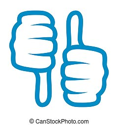 thumb up and down icon