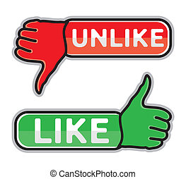 Thumb up and down icons