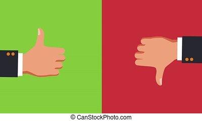 Thumb up and thumb down HD animation - Thumb up and thumb...