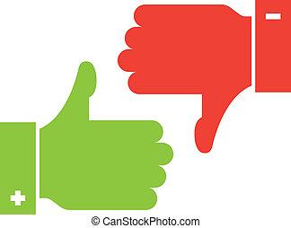 thumb up and thumb down icons - vector thumb up and thumb...