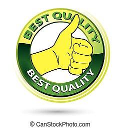 Thumb Up Best Quality Logo Illustration