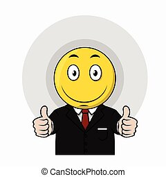 Thumb up business emoticon