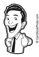 Thumb Up Businessman