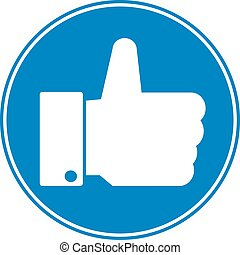 Thumb up button.