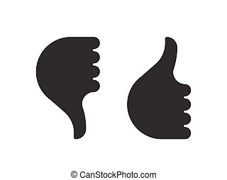 Thumb up down hand icon