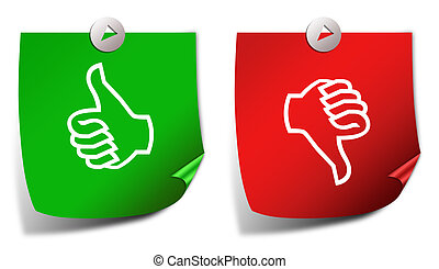 Thumb up down stickers