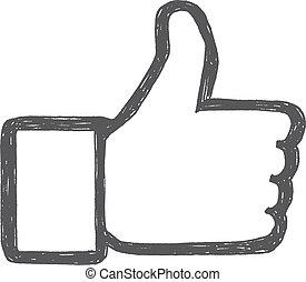 Thumb up drawing