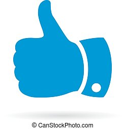 Thumb up finger sign