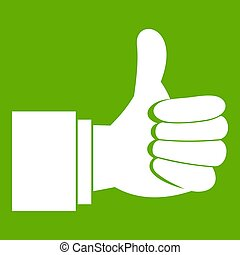 Thumb up gesture icon green