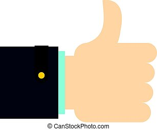 Thumb up gesture icon isolated