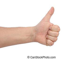 Thumb up gesture